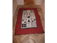 Black and white baby play mat, soft quited, clean with original packaging