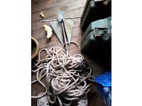 Folding Anchor with rope plus chain