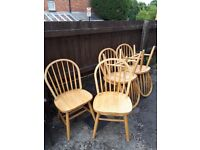 6 Large Pine Chairs