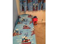 Thomas the Tank Duvet Cover and Pillow Case for Toddler Bed and Curtains