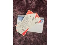 2 x AJ ANTHONY JOSHUA PARKER FLOOR SEATS B10
