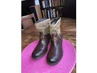 Women's winter leather ankle boots NEW