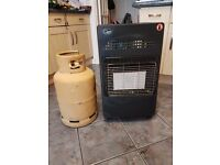 Quest calor gas heater with gas bottle