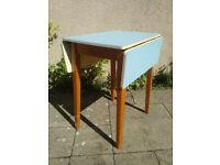 Vintage Retro Mid Century Melamine Drop Leaf Table 1960s Bijou Kitchen Table