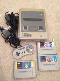 Super Nintendo SNES console and games