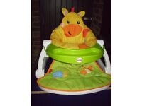 Sit-me-up Floor Seat With Tray (giraffe)