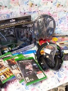 Your games, consoles, and accessories for our cash! We accept all nextgen and retro/vintage! Playstation, Xbox, Nintendo