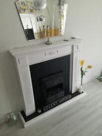 Handmade fireplace & electric fire
