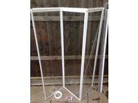 Aqualux Fully Framed White 3 Fold Bath & Shower Screen H140cm, W120cm