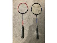 Badminton rackets to give away