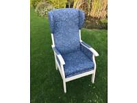 Wing back armchair with Laura Ashley pattern