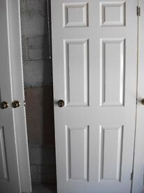 Colonial style 6 panel doors X 6. Immaculate. Complete with all fixings.
