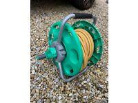 Garden hose reel complete with garden hose full