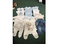 Tiny baby bundle - ideal for twins boys - 14 items