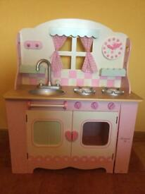 Early Learning Centre Wooden Kitchen & Lots Of Accessories, Axminster