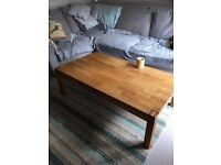 Solid Oak Wood Coffee Table with drawer RH19, East Grinstead, West Sussex, (dining, living room)