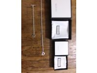 Ladies Matching Gucci Necklace & Gucci Bracelet (Brand New Never Worn)