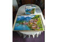 """1000 piece jigsaw puzzle """"hallstaetter lake austria"""" used once complete"""