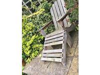 Adriondack garden deck chairs