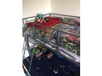 Mid sleeper metal bed