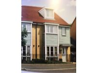 Nearly new 4 bed house with garden, parking and 2 bathrooms to let in Repton Park, Ashford.