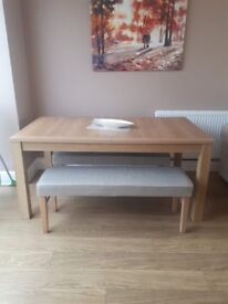 NEXT Dining Table and benches
