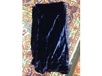 Heavy velvet curtains with heading tape and hooks 260cm long and 115cm wide each curtain