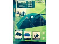 Halfords deluxe 4 man family tent. Brand new includes 4 luxory sleep bags 2 air beds & camping light