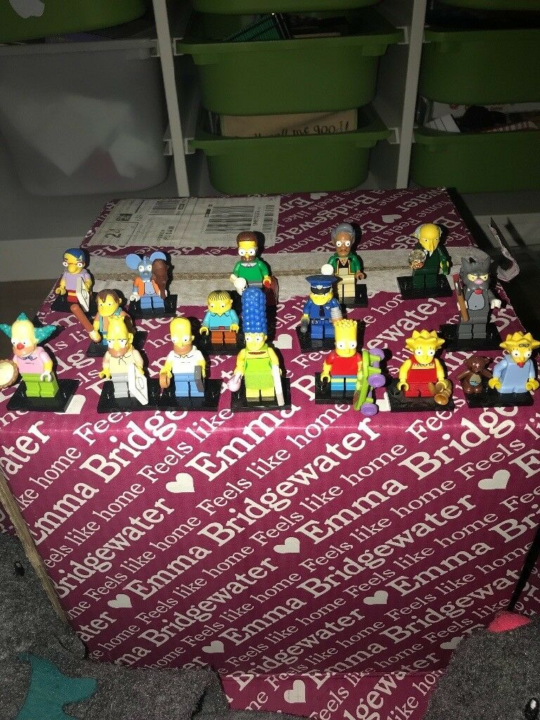 the simpsons Lego mini figures season one full collection