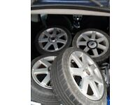 Ford fiesta 16inch alloys with tyres