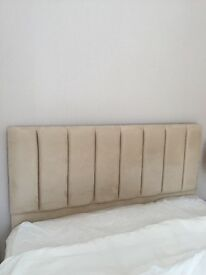 Cream padded headboard