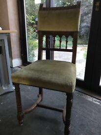 6 Antique dining chairs/ reupholstry project