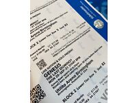 2 x Genesis Tickets - Birmingham 20/09/21
