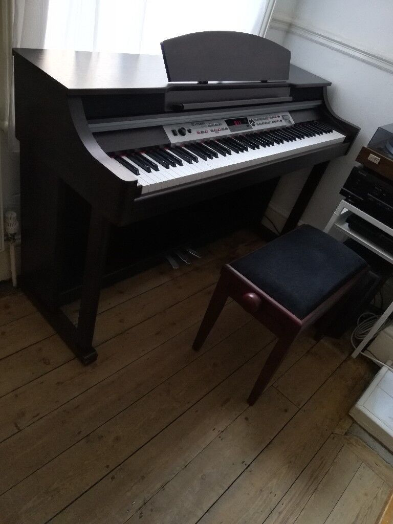 Thomann DP-50 Digital Piano Mahogany full size weighted keys 3 pedals with  bench very good state | in Wood Green, London | Gumtree