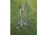 Bundle of golf clubs