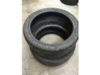 Two UNUSED Kumho Ecsta V70A 205/40R17 80W (K21-SOFT) Trackday Tyres
