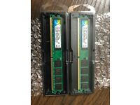 4GB Kit(2 X 2GB) DDR2 800MHz 2RX8 PC2-6400 240pin CL6 DIMM Memory 1.5v