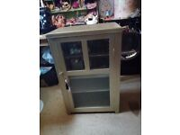 vintage/antique wooden cupboard display cabinet shabby chic/upcycle