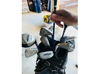 Ben Sayers Ladies Golf Clubs + 3,5,7 woods and covers + bag