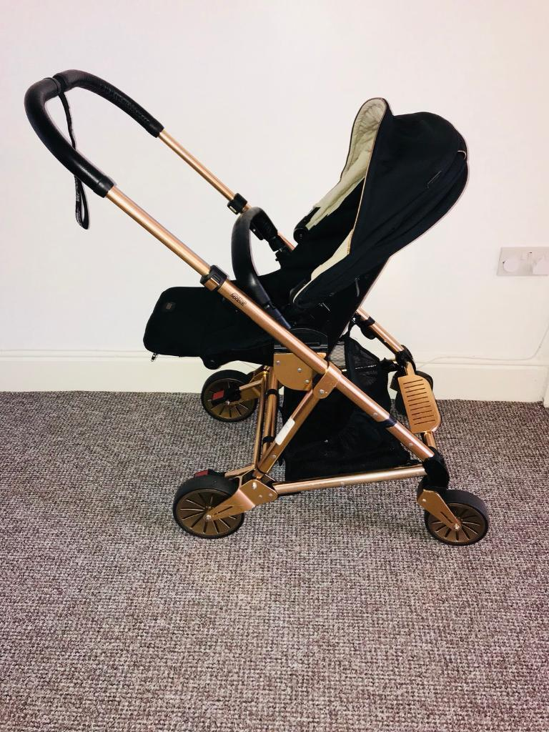 Mamas and Papas Urbo black and rose gold pushchair