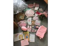HUGE bundle job lot girls baby shower decorations and games