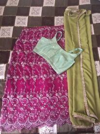 Rose lehenga/ Indian wear