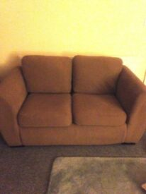 Beige two + three seater sofa