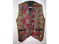 Lovely Vintage Waistcoat - suit man or woman. Sequins on Paisley pattern
