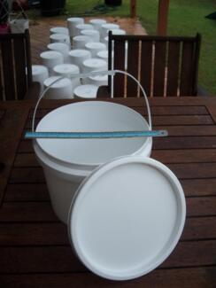 Plastic Buckets with Lids. (Pail. Bucket. Container.) Eight Mile Plains Brisbane South West Preview