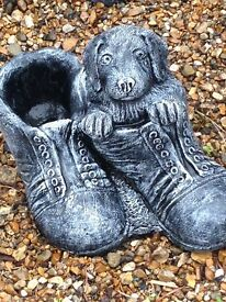 Puppy in shoes ornament