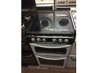 Silver & black stoves 50cm gas cooker grill & oven good condition with guarantee bargain