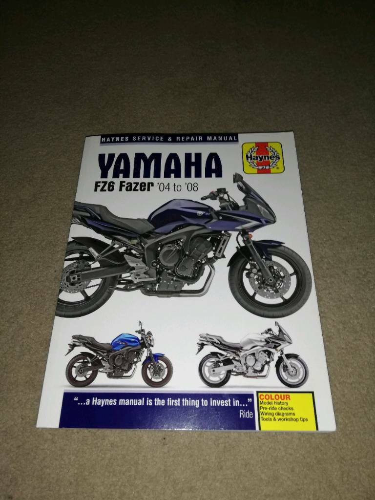 Awe Inspiring Haynes Manual Yamaha Fz6 Fazer 04 08 Mint Condition In Wiring 101 Vihapipaaccommodationcom