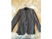 "Mens grey pin stripe Saxony suit size 40"" Large 102cm"