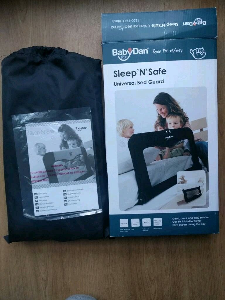 BabyDan Sleep N Safe Black Universal Bed Guard Image 1 Of 4